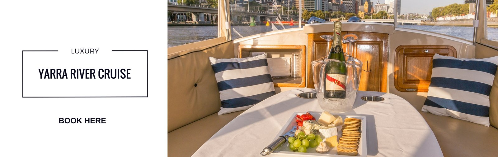 Book now your luxury Yarra River cruise