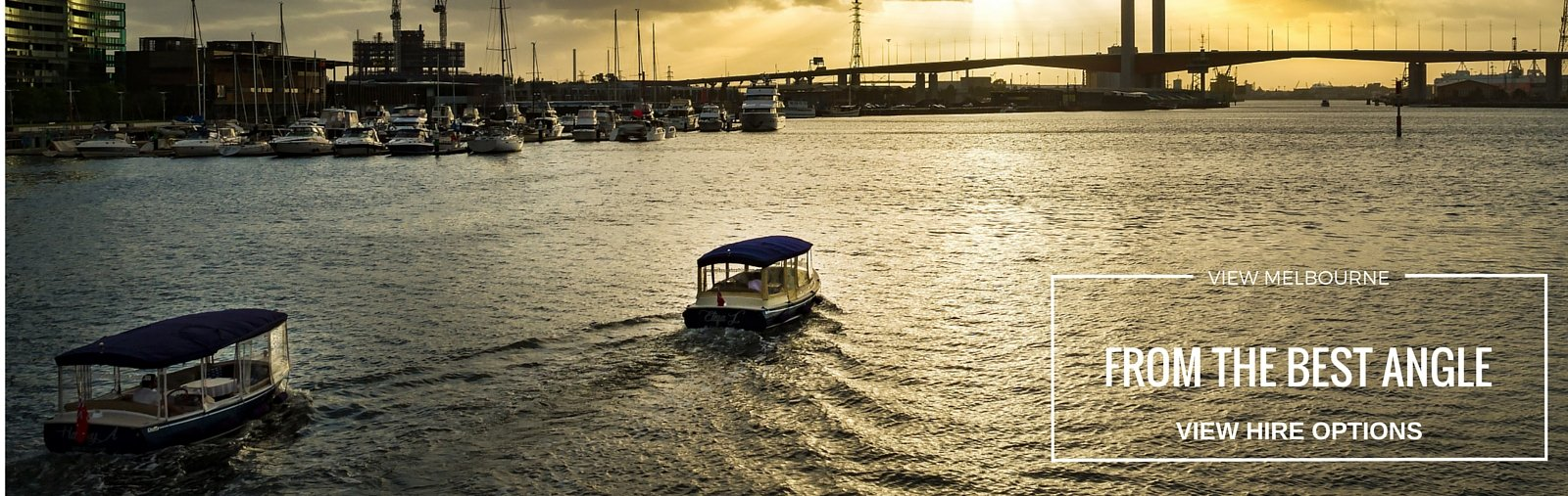 Take a sunset cruise on the Yarra River Melbourne