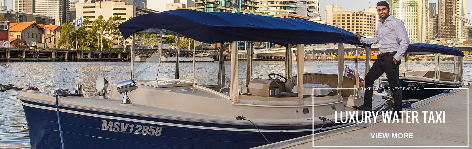 take a luxury water taxi to your next event