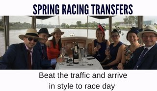 spring racing carnival tranfers by melbourne water taxi service