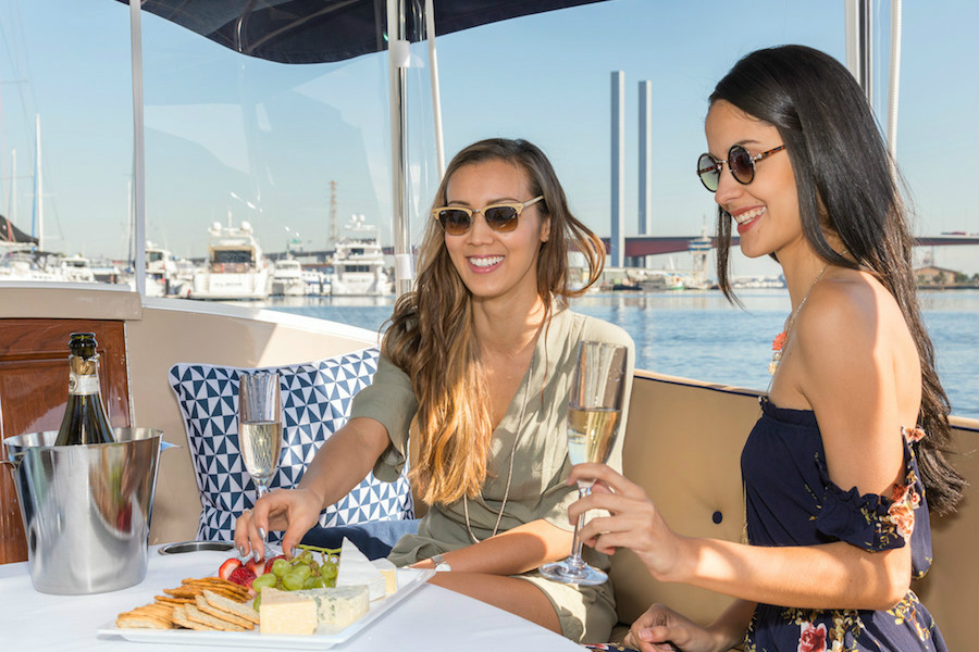 private hire boat for girls days out in melbourne