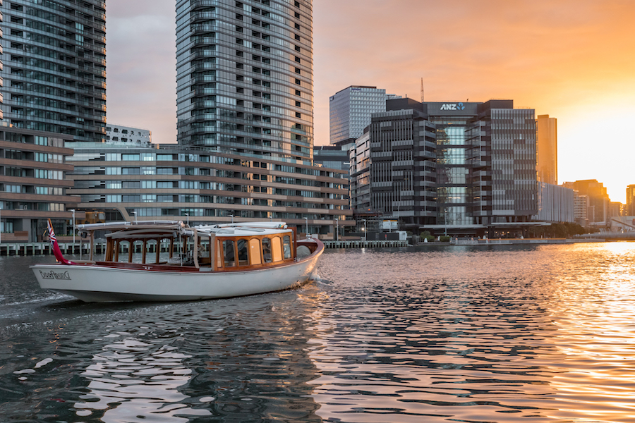 private sunrise cruises on Yarra River