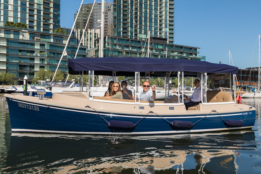 Docklands private yacht hire for self-drive cruises