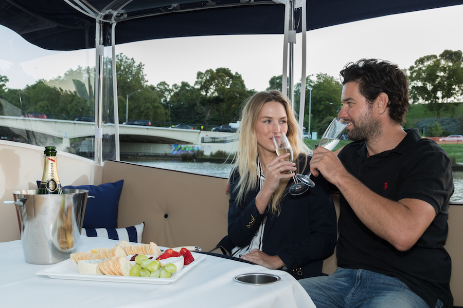 private lunchtime boat cruises, Yarra River Melbourne