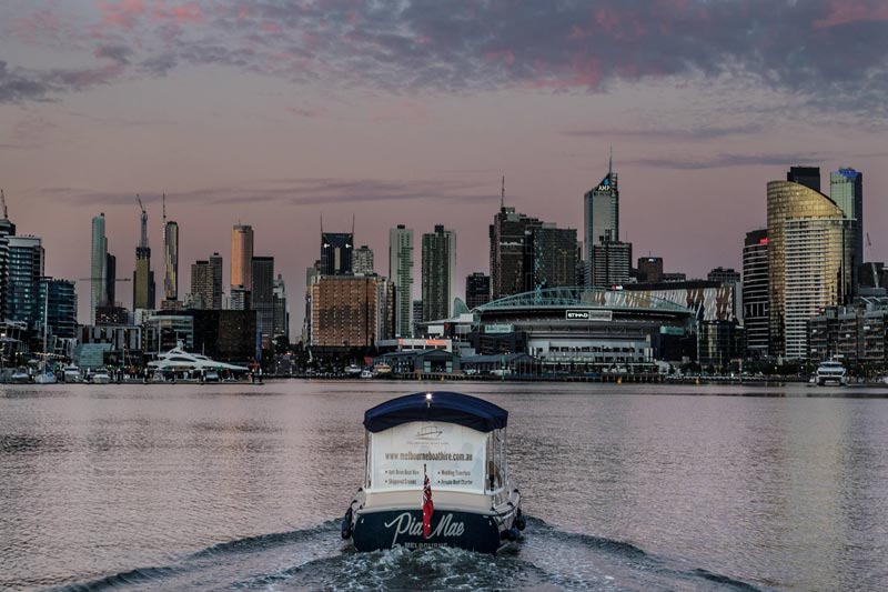 self-drive sunset boat cruise Melbourne