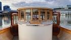 Outdoor onboard Birrarung cruising Melbourne