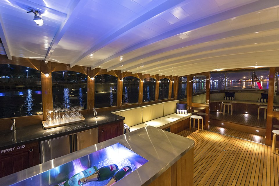 Cruise in style onboard Birrarung with a private charter