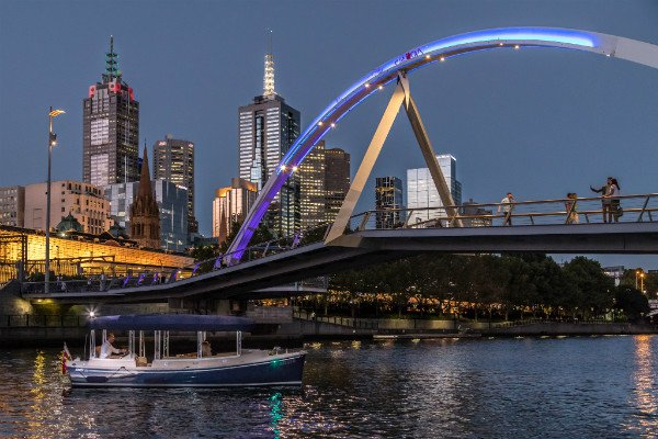 luxurious passenger cruise boat for hire, yarra river melbourne