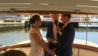 luxuriously appointed wedding ceremony boat, Yarra River Melbourne