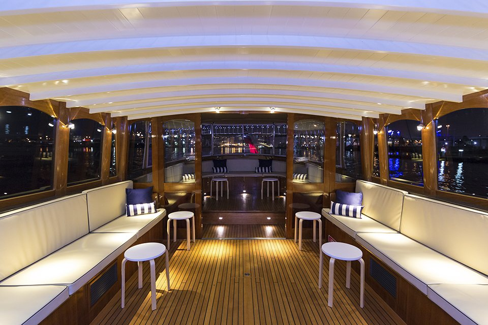 charter a private luxury cruise boat, on the Yarra River in Melbourne