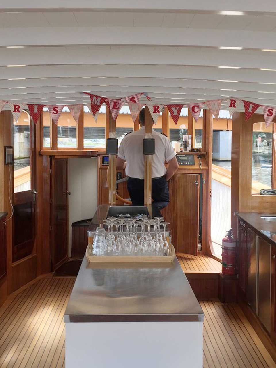 luxurious skippered boats available for office parties and work events in Melbourne