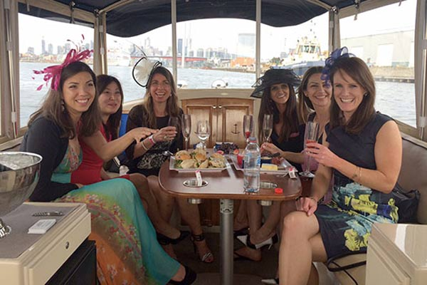 a group of melbourne girls enjoy a cruise on the Yarra river