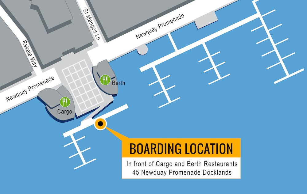 Melbourne Boat Hire Self Drive Hire and Skippered Cruises Boarding Map