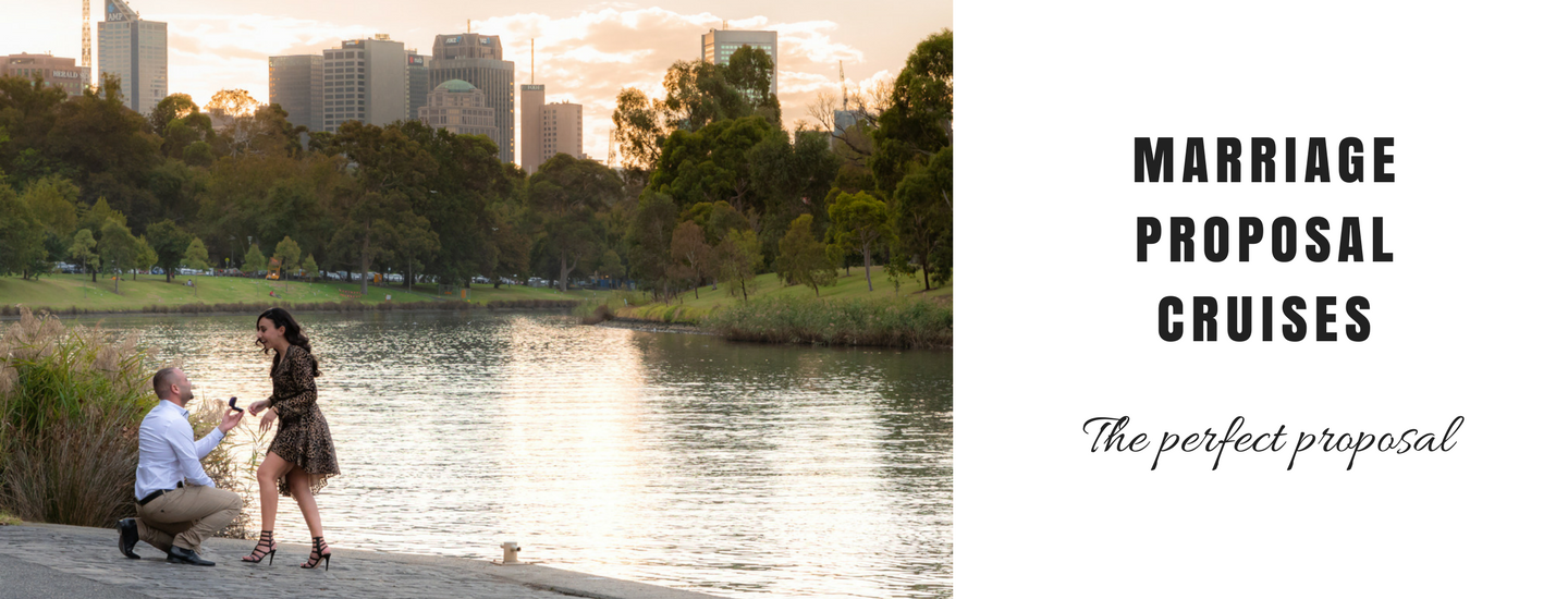 private luxury boat cruise for engagement proposals, Yarra River Melbourne
