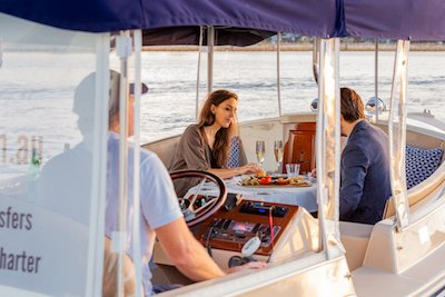 private dining on board luxury boats in Melbourne