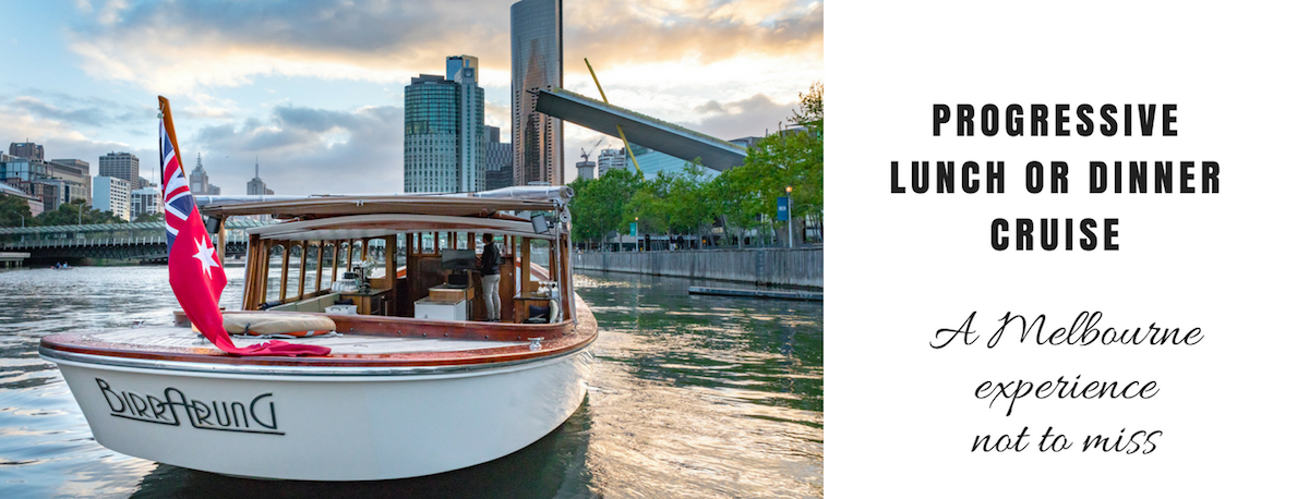 yarra river cruise with progressive dining included