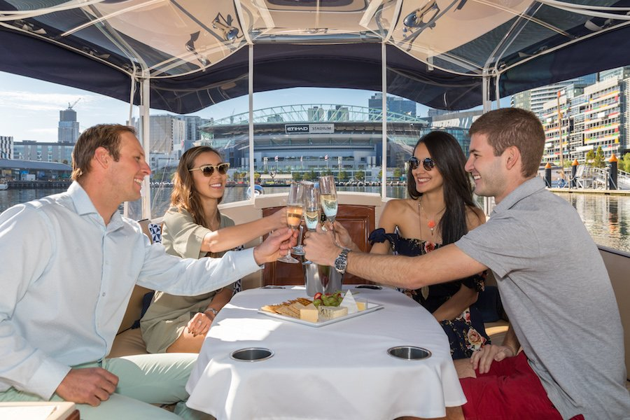 cruises which combine boat trips and progressive dinners in melbourne