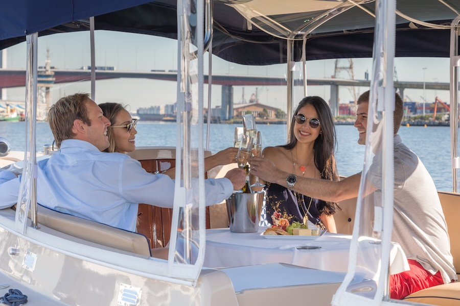 make reservation for wine-cheese boat cruise in melbourne