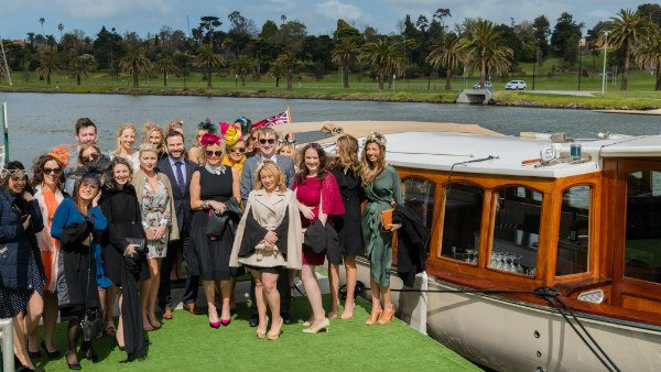 Private luxury boat hire from Melbourne to Flemington Races